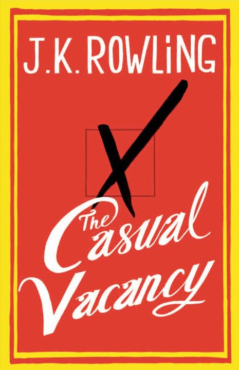 The Casual Vacancy by J.K. Rowling new release book cover