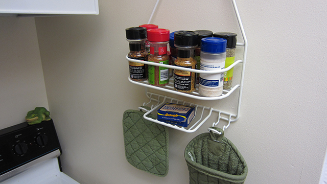 Click here to read Repurpose a Shower Caddy Into a Kitchen Spice Rack