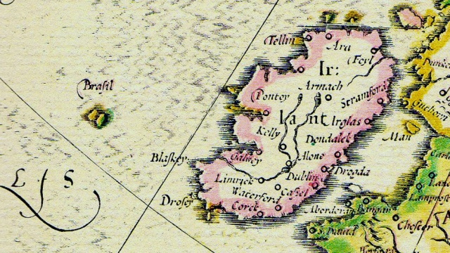 Brazil was once a mythical island, just off the coast of Ireland