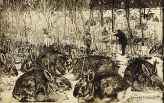 The early 1900s version of Photoshop involved lots of giant rabbits and corn