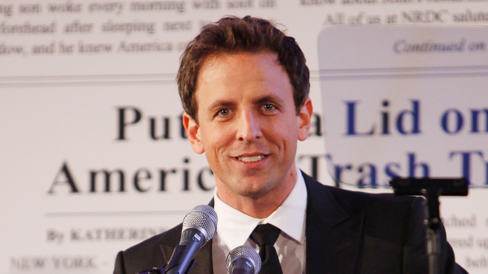 Seth Meyers May Be Stepping into Regis Philbin's Venerable Elasticated Slacks