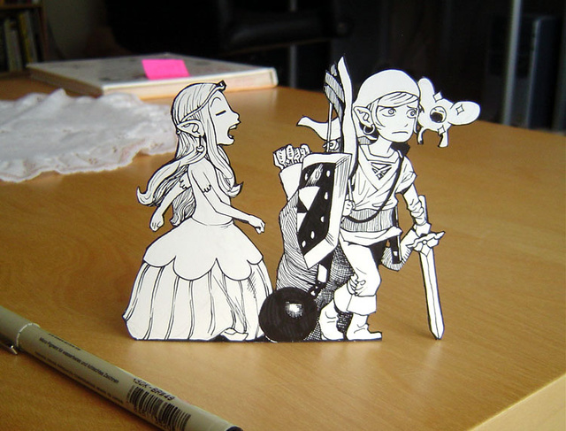 Somewhere, There's a Paper Mario Joke to Make About These Adorable Paper Zelda Figurines