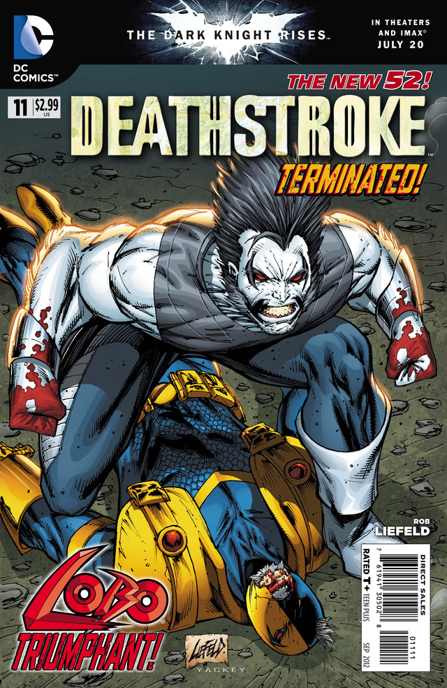 A preview of next week's issue of Deathstroke, guest-starring Lobo