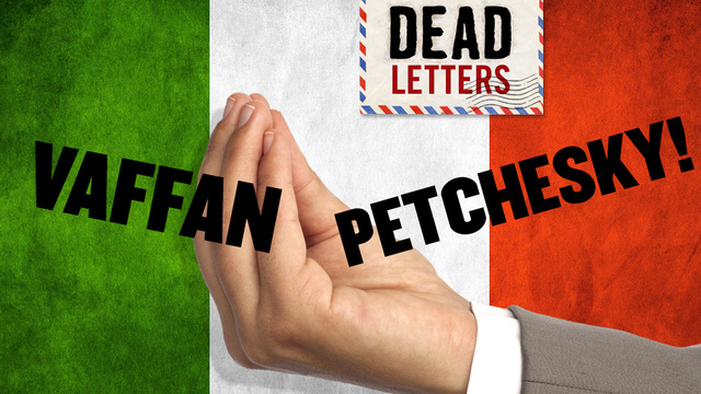 Dead Letters: Italy Unifies And Declares War On Barry Petchesky