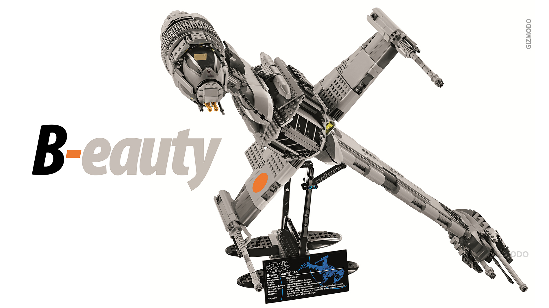 Click here to read 1,486-Piece B-Wing Is the Most Amazing Lego Set In a Very Long Long Time