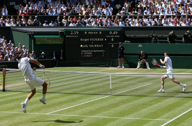 Roger Federer And Andy Murray Head Into Third Set Tied At One Set Apiece