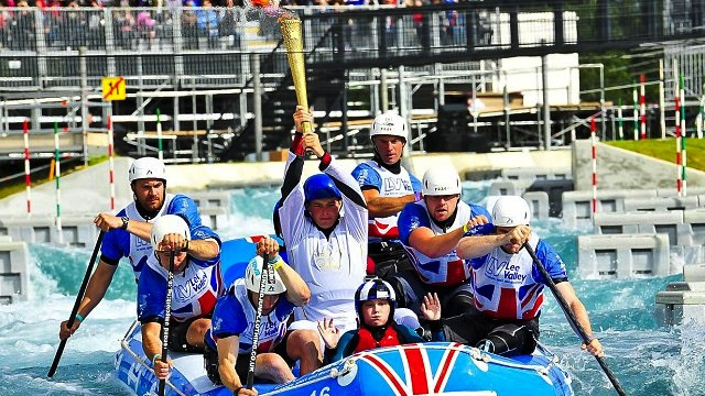 Olympic Flame Extinguished During White Water Raft Ride