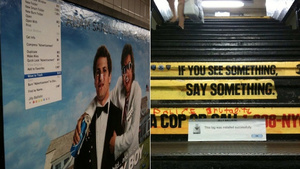 The Nerdiest Street Art Uses Computer Messages to Poke Fun of People