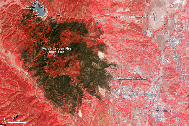 The Terrible Colorado Fire Scar Seen From Space