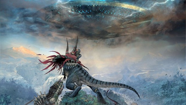 Grant Morrison shows off his first teaser trailer for Dinosaurs Vs. Aliens