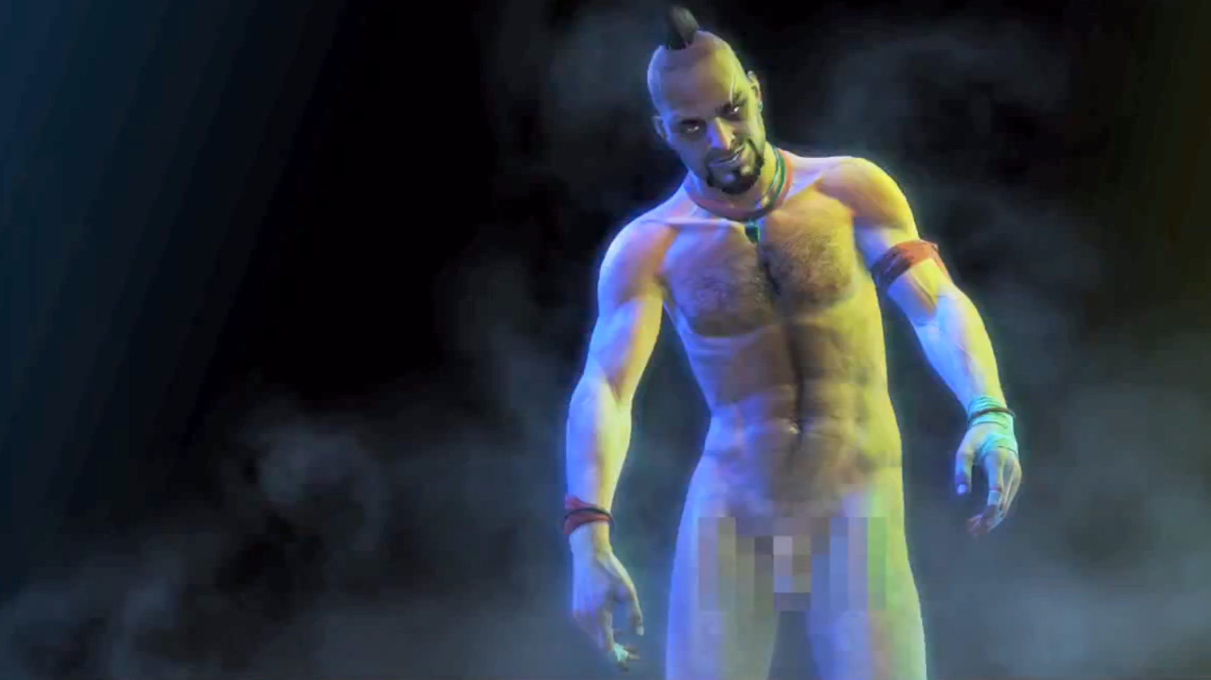 Naked male video game characters seems magnificent