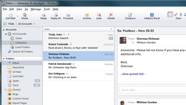Grab Postbox, the Powerful Desktop Email Client, for 30% Off All Week Long
