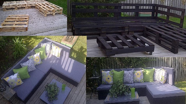 Click here to read Turn Wooden Pallets into Patio Furniture