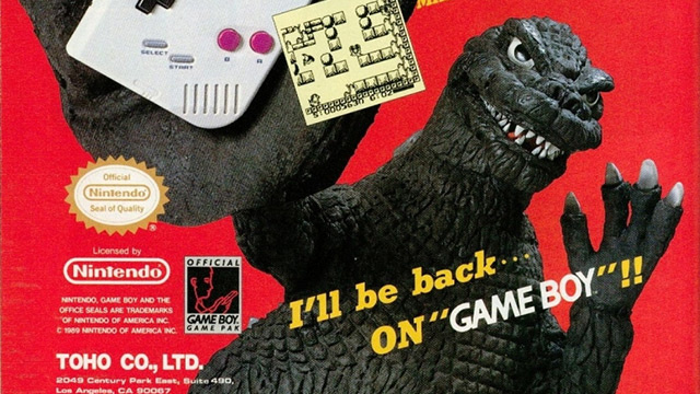 Poor Godzilla, a Game Boy is Too Tiny For His Giant Fingers