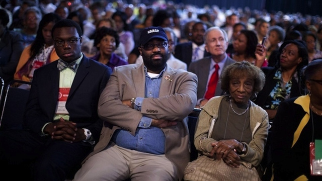 Caption Me: NAACP Members Watching Mitt Romney Talk