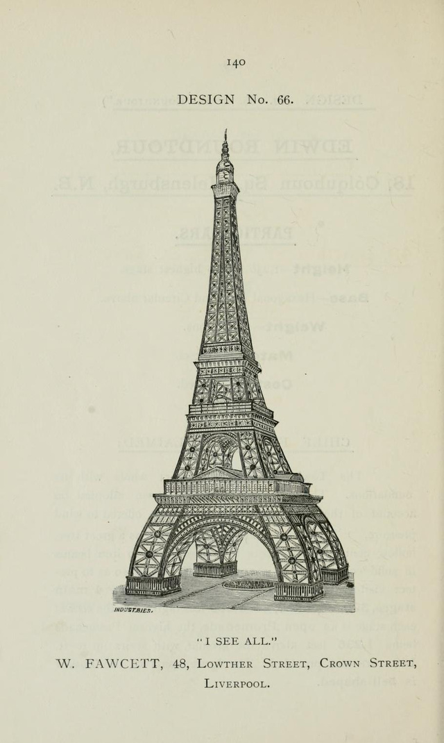 In 1890, the English held a contest to design London's wacky rip-off of the Eiffel Tower