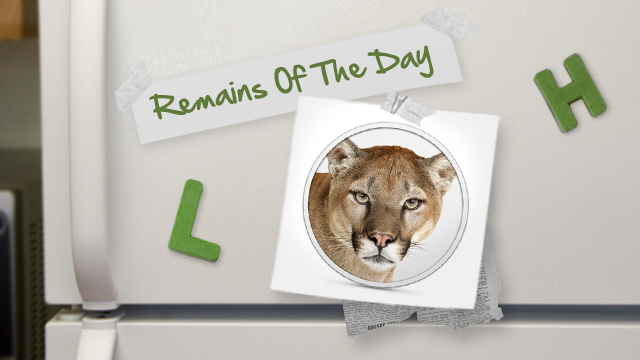 Click here to read Remains of the Day: MacBook Users Reporting Poor Battery Life in Mountain Lion