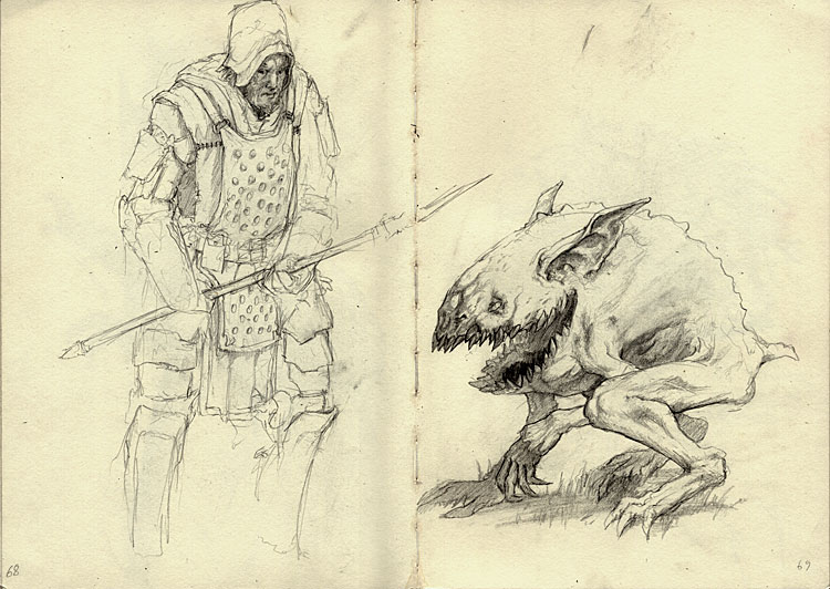 D Line Drawing Game : Luscious game art makes robots and beasts look great together