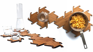 Use These Interlocking Wooden Ninja Stars As Coasters, Trivets, Or Weapons