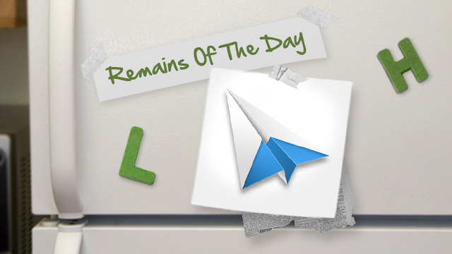 Click here to read Remains of the Day: Sparrow for Mac Gains Notification Center Support