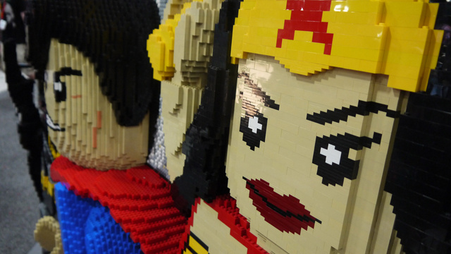 The Giant LEGO Creations of Comic-Con