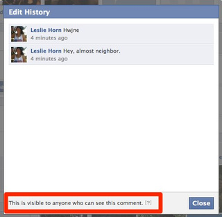 Facebook Now Shows Everyone Every Stupid Comment You Edited