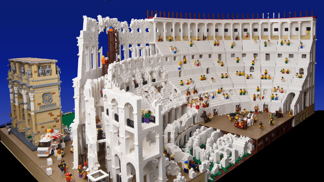 Massive 200,000-Piece Roman Colosseum Is the Most Impressive Lego Architecture Model I've Ever Seen
