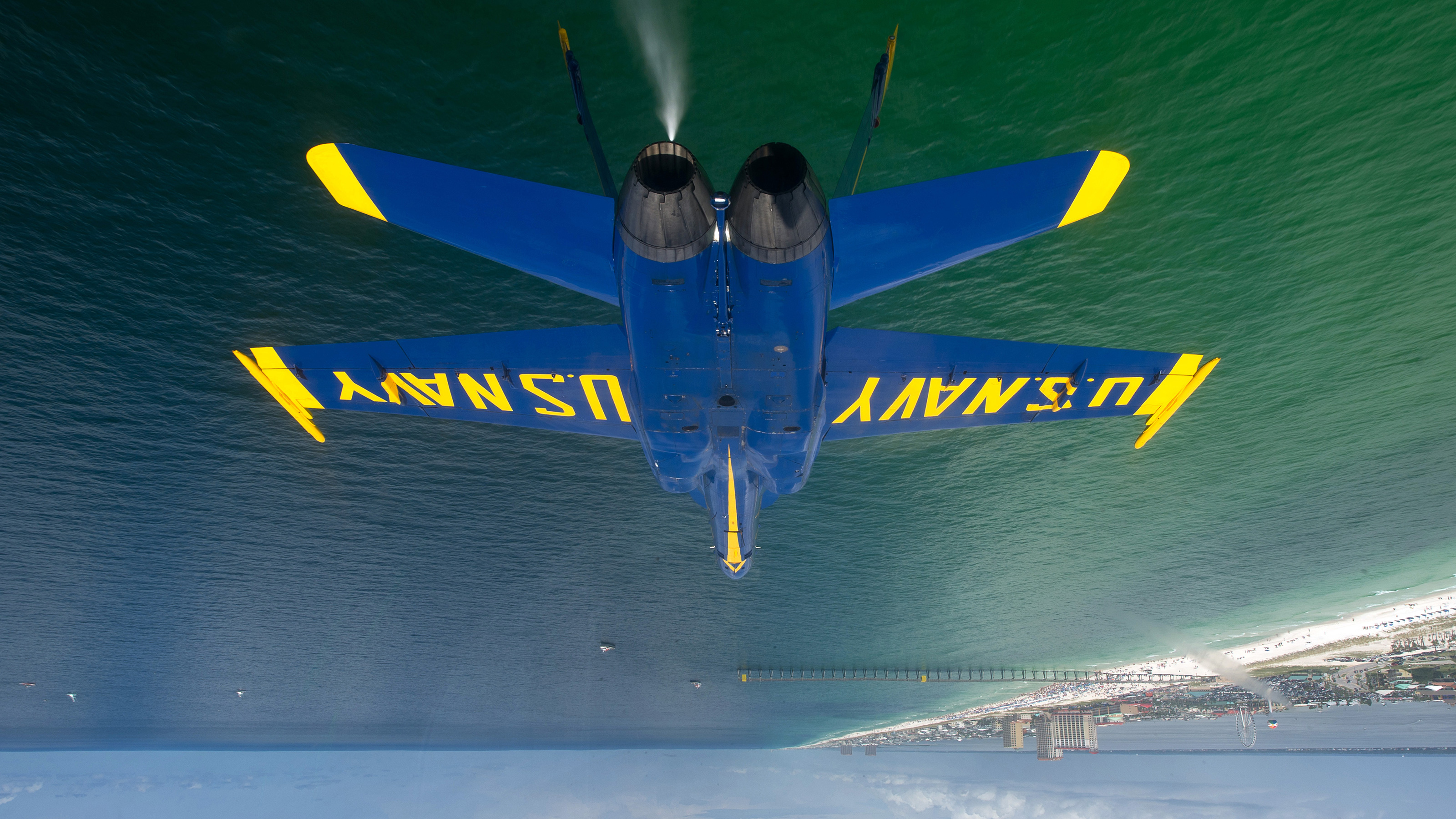 Click here to read Inverted F-18 Hornet Photo Will Make Your Head Spin a Little