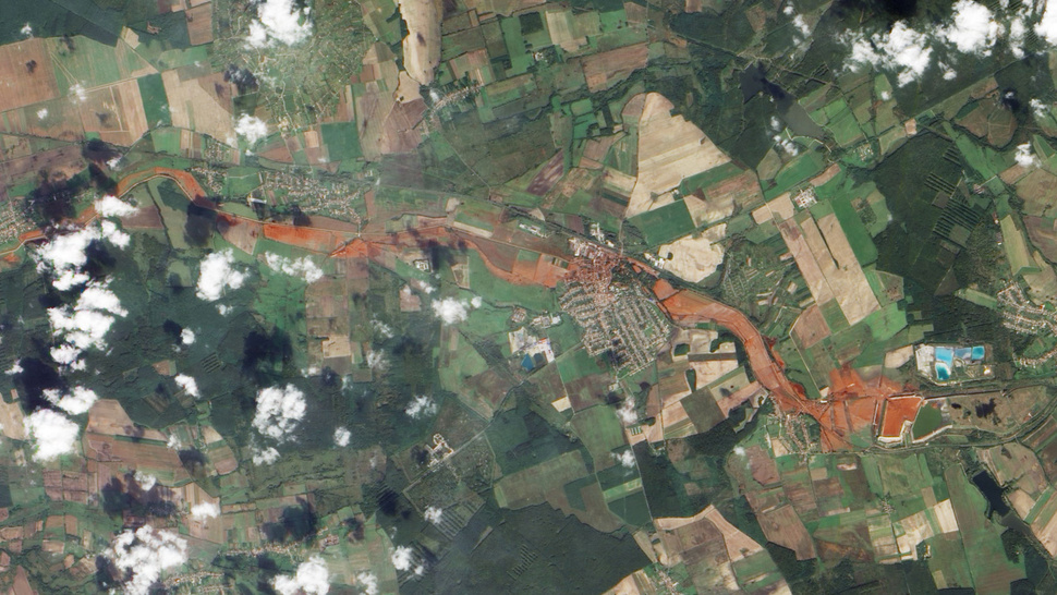 Hungary's river of death, as seen from space