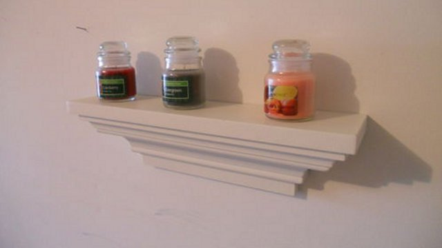 Make a DIY Wall Shelf Using Crown Molding