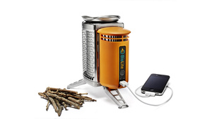 Charge Your iPhone with Burning Pine Cones