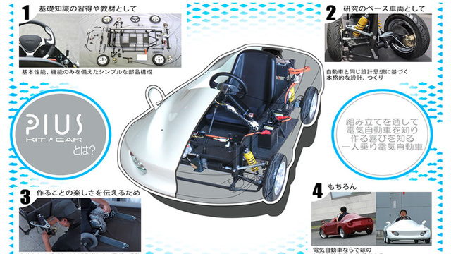 Japanese Release Build-Your-Own Electric Car Kit