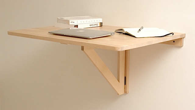 Repurpose a folding table as a standing desk lifehacker for Diy fold down desk