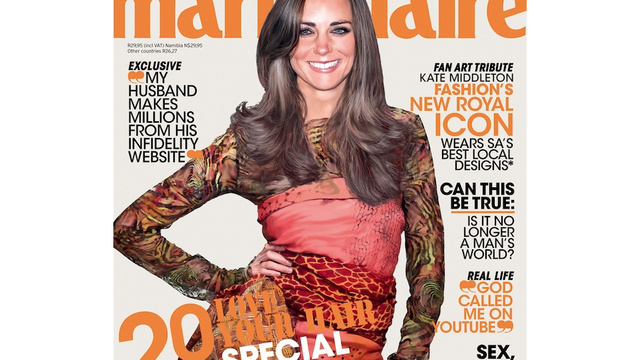 Kate Middleton Bizarrely Photoshopped Onto Marie Claire Cover