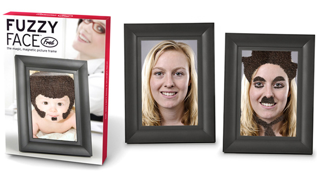 Deface Family Portraits with a Moustache-Making Photo Frame