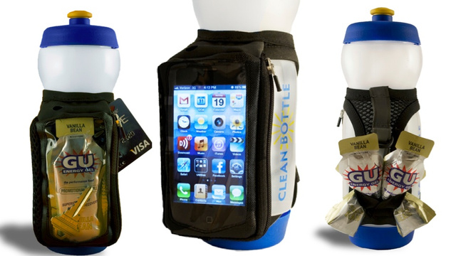 Take Your Phone on a Jog with this Water Bottle Strap. Handy!