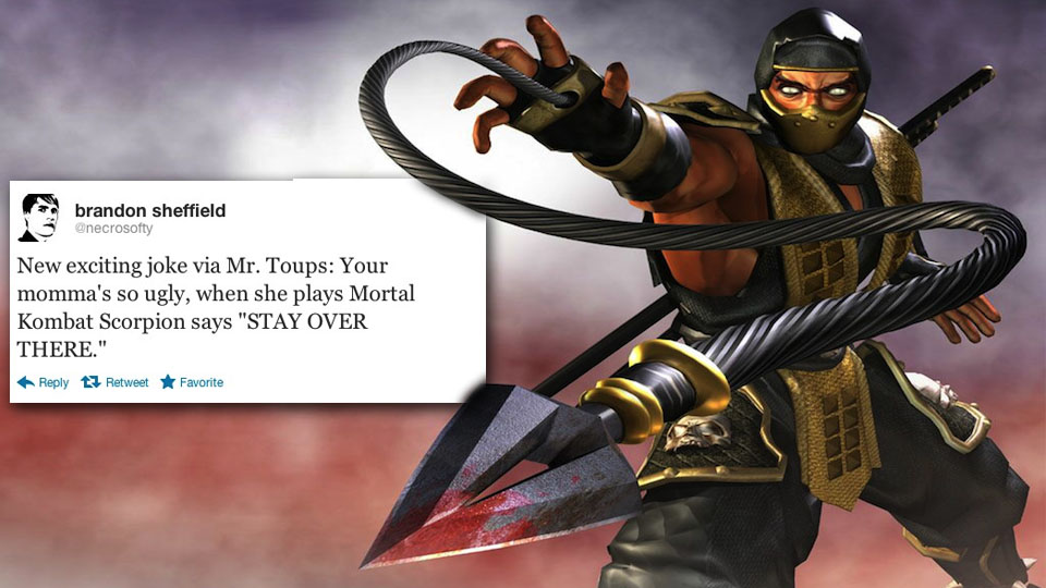 Click here to read &lt;em&gt;Mortal Kombat&lt;/em&gt;'s Skorpion Serves Up A Wicked 'Your Mamma' Joke