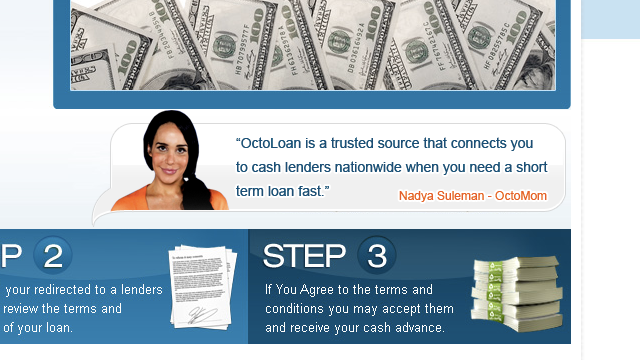 Octomom Wants to Help You Get a Questionable Loan Fast