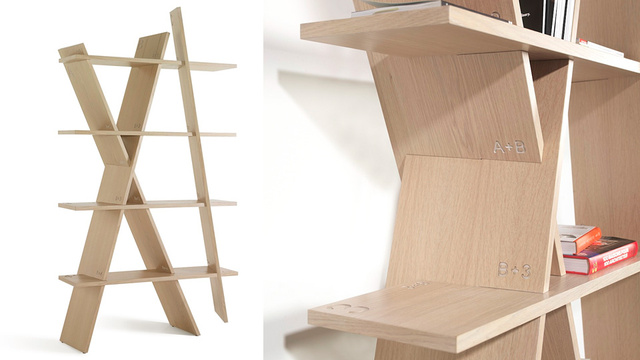 You'll Never Forget How To Build A Bookshelf With Plans Carved Into Its Pieces