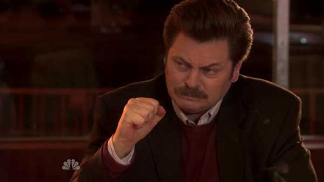 Ron Swanson Reading the Tweets of Young Female Celebrities Is What Dreams Are Made Of