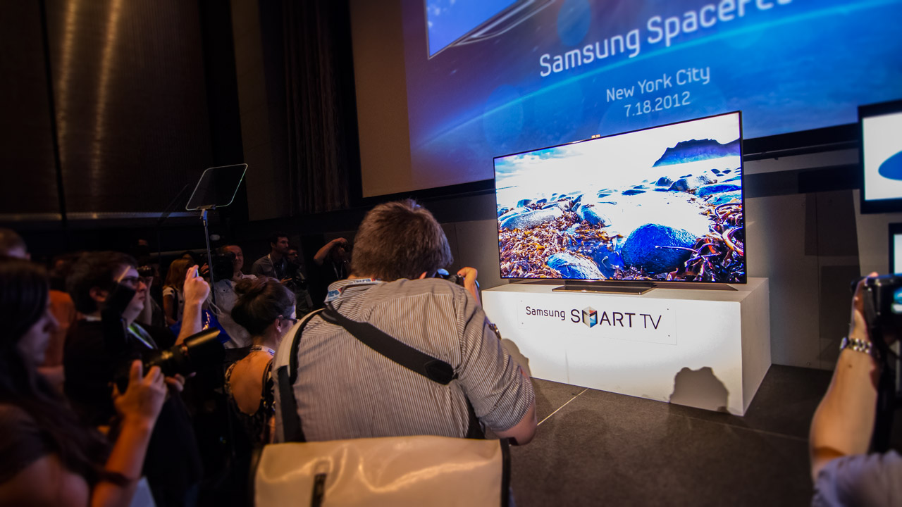 samsung tv 75 inch price. one drawback, aside from price -- good luck fitting that beast into a typical living room. if your change jar is nearing the million-penny mark, new tv samsung tv 75 inch