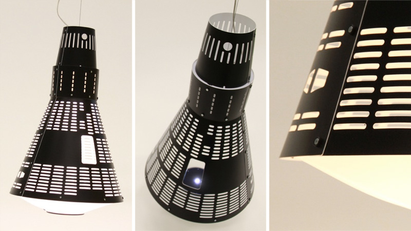 Click here to read This Gorgeous Mercury Spacecraft Lamp Could Orbit Your Dining Table