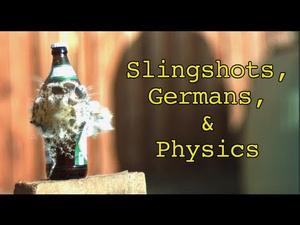 The Slow-Motion Physics of Hand-Held Slingshots