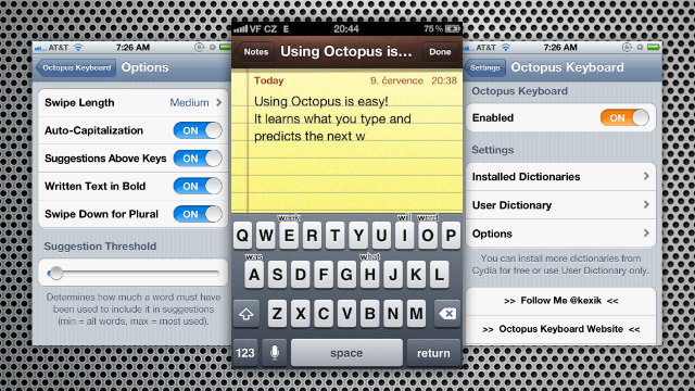 Click here to read Octopus Keyboard Adds BlackBerry-Style Predictive Text Typing to the iPhone