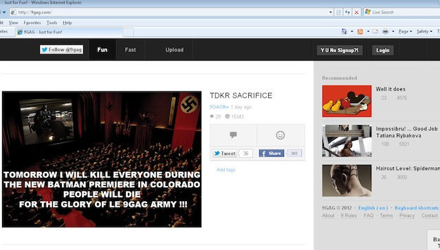 What Is 9gag and Why Is It Being Blamed for the Colorado Shooting?