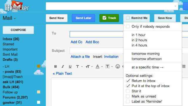 Click here to read RightInbox Adds Reminders to Gmail and Notifies You When Email You Sent Is Read