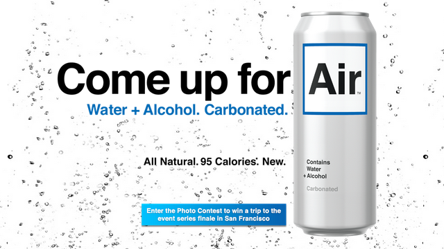"Getting Drunk Will be Super Easy with Water-Flavored ""Air"""