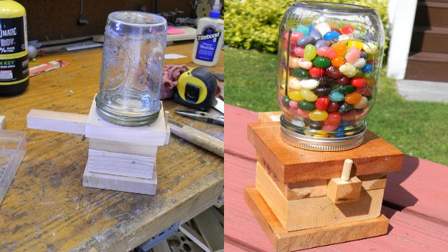 Click here to read Build a Mason Jar Based Snack Dispenser