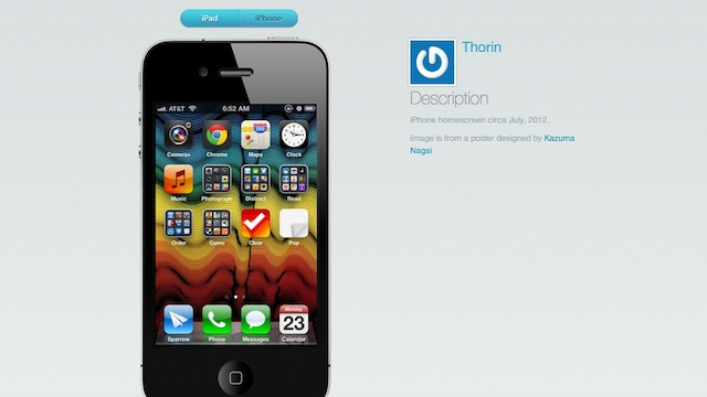 Homescreen.me Shows Off Your iPhone Home Screen and Apps