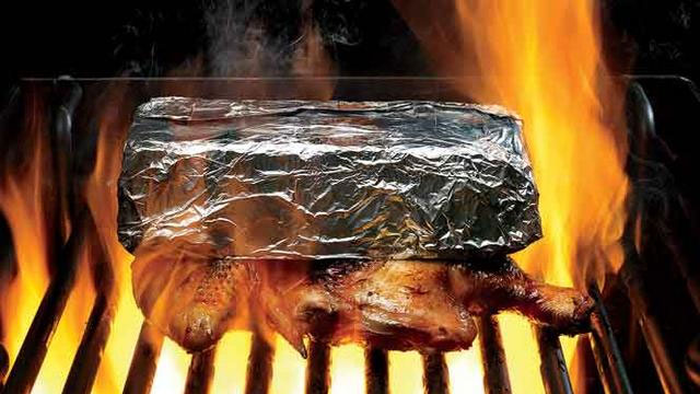 Click here to read Grill Perfectly Moist Chicken Under a Brick